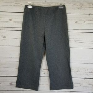 BCG gray pull up workout capri length pants size M